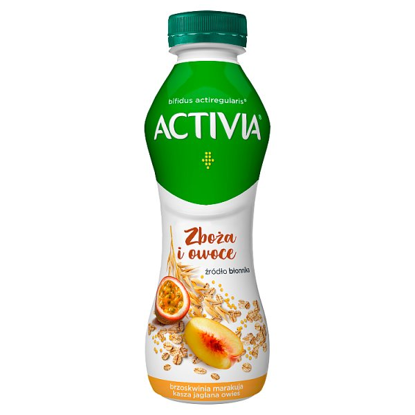 Danone Activia Jogurt brzoskwinia marakuja kasza jaglana owies 280 g