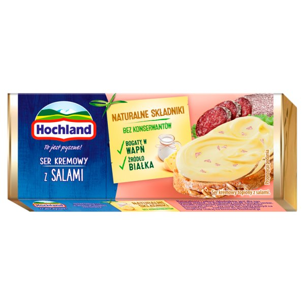 Hochland Ser kremowy z salami 90 g