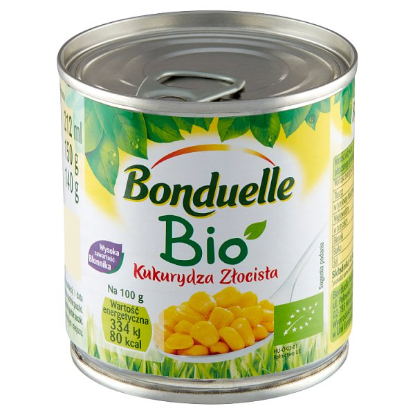 Bonduelle Bio Kukurydza Złocista 150 g