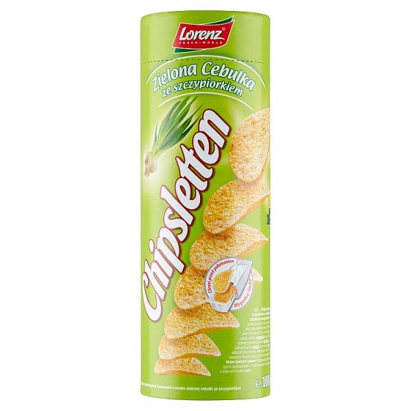 Chipsletten Chipsy ziemniaczane zielona cebulka ze szczypiorkiem 100 g
