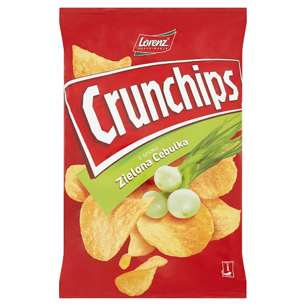 Crunchips Chipsy ziemniaczane o smaku zielona cebulka 140 g