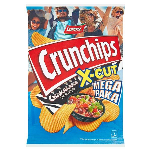 Crunchips X-Cut Chipsy ziemniaczane o smaku chakalaka 200 g