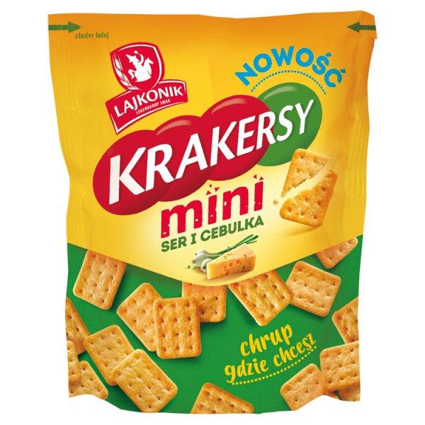 Lajkonik Krakersy mini ser i cebulka 100 g