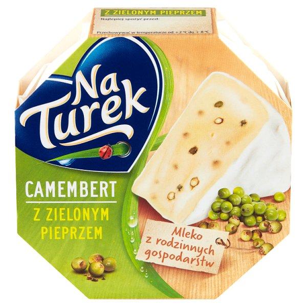 NaTurek Ser pleśniowy camembert z zielonym pieprzem 120 g