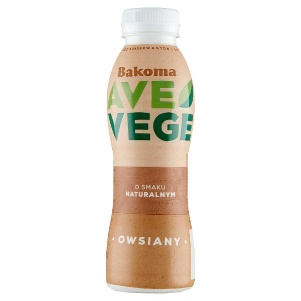 Bakoma Ave Vege Napój owsiany o smaku naturalnym 380 g