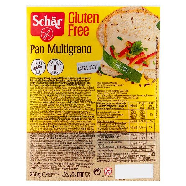 Schär Pan Multigrano Bezglutenowy chleb wieloziarnisty 250 g (10 sztuk)