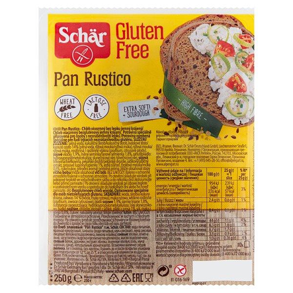 Schär Pan Rustico Bezglutenowy chleb wiejski 250 g (10 sztuk)
