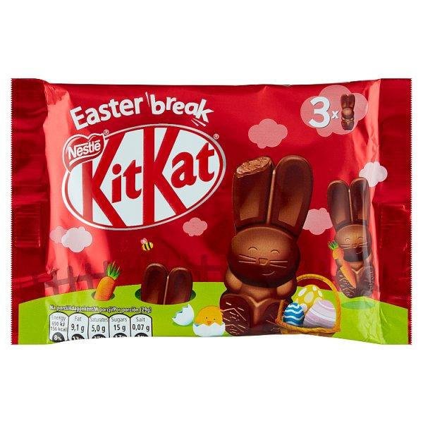 KitKat Baton z czekolady mlecznej nadzieniem czekoladowym kawałkami płatków i wafli 87 g (3 x 29 g)