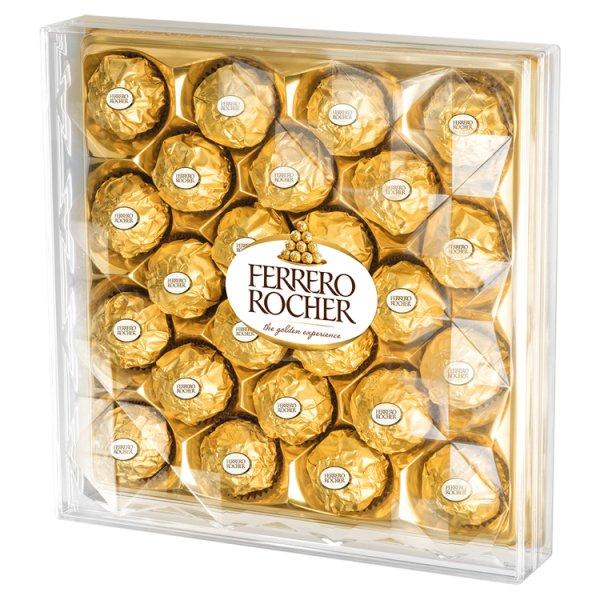 Ferrero Rocher Chrupiący wafelek z kremowym nadzieniem i orzechem laskowym w czekoladzie 300 g