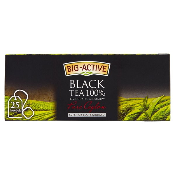 Big-Active Pure Ceylon Herbata czarna 100%  37,5 g (25 torebek)