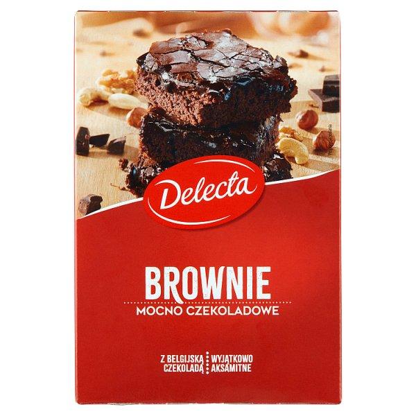 Delecta Brownie mocno czekoladowe mieszanka do wypieku ciasta 550 g