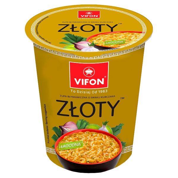 Vifon Zupa błyskawiczna o smaku kurczaka złoty 60 g