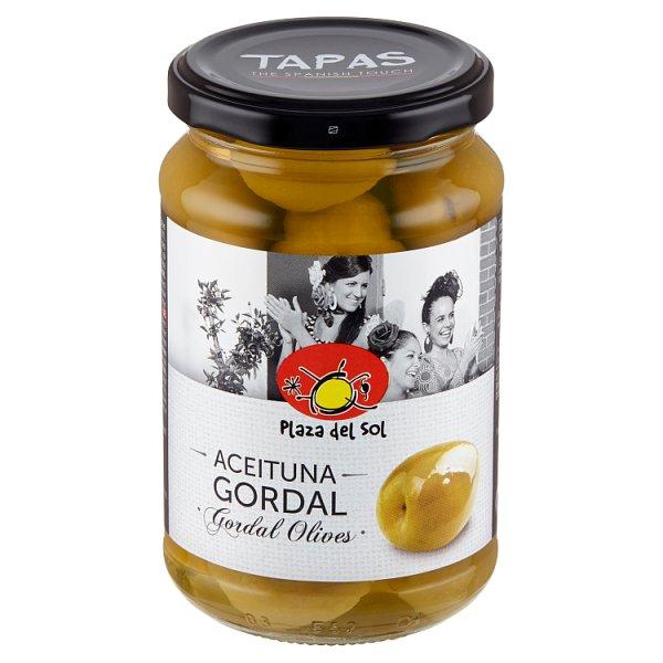 Plaza del Sol Oliwki Gordal zielone z pestką smaku anchois 350 g