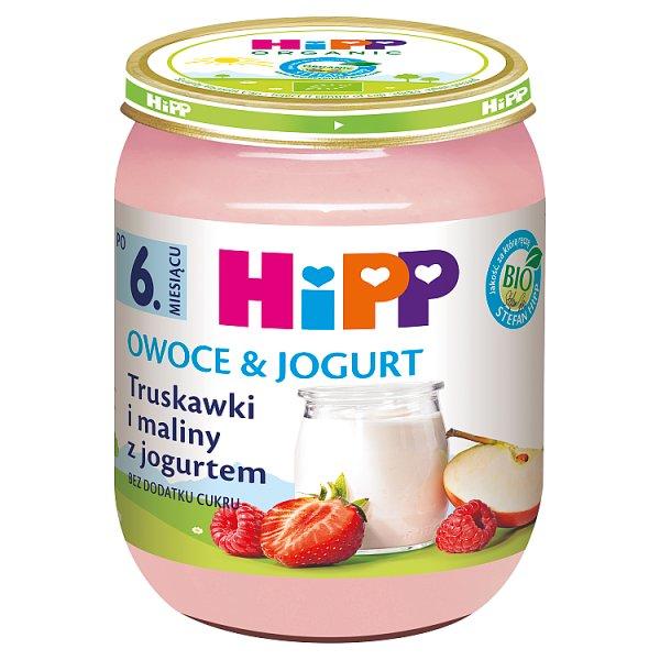 HiPP BIO Owoce & Jogurt Truskawki i maliny z jogurtem po 6. miesiącu 160 g