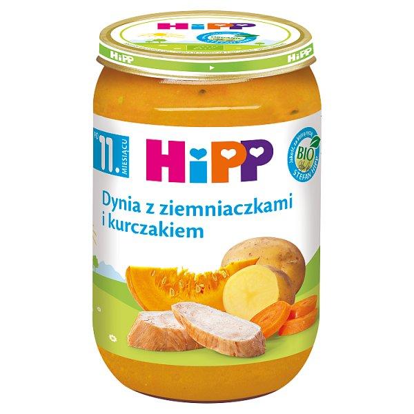 HiPP BIO Dynia z ziemniaczkami i kurczakiem po 11. miesiącu 220 g