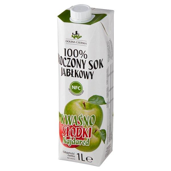 Dolina Czerska 100% tłoczony sok jabłkowy kwaśno słodki najdared 1 l