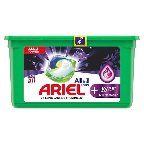 Ariel Allin1 Pods +Unstoppables Kapsułki do prania, 31prań