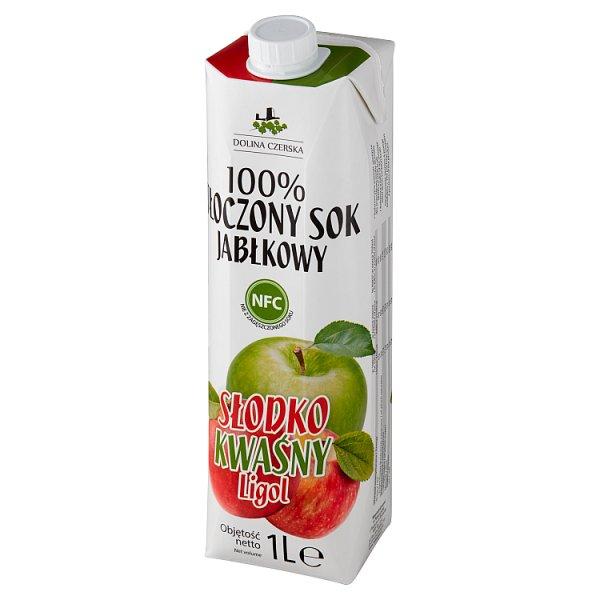Dolina Czerska 100% tłoczony sok jabłkowy słodko kwaśny ligol 1 l