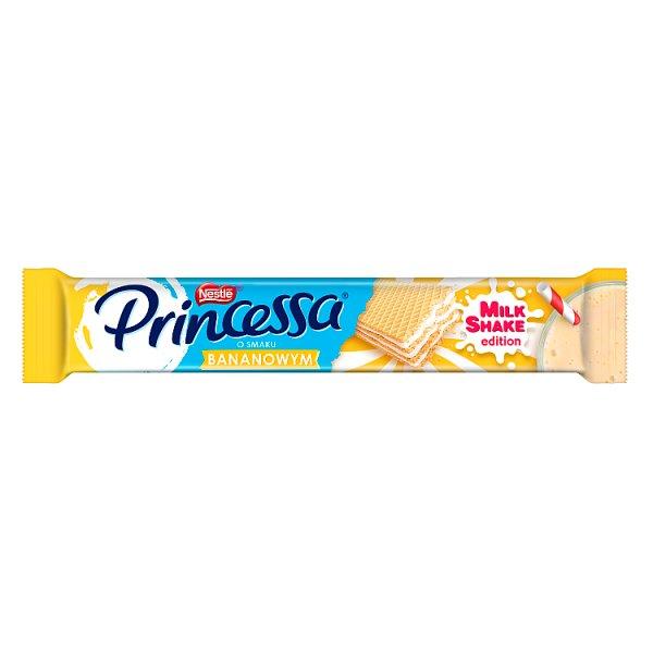 Princessa Kolorowy wafel przekladany mlecznym kremem o smaku bananowym 37 g
