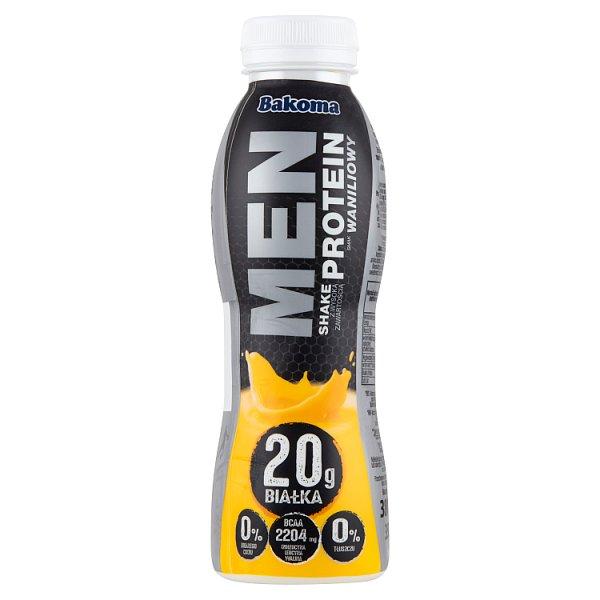 Bakoma Men Shake z wysoką zawartością protein smak waniliowy 380 g