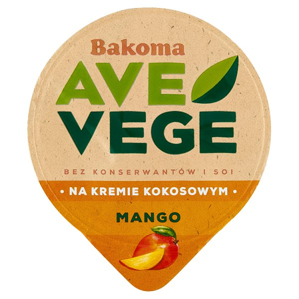 Bakoma Ave Vege Deser na kremie kokosowym z mango 150 g