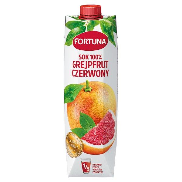 Fortuna Sok 100% grejpfrut czerwony 1 l