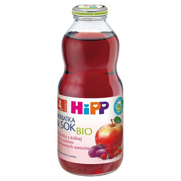 HiPP BIO Herbatka z dzikiej róży z sokiem z czerwonych owoców po 4. miesiącu 0,5 l