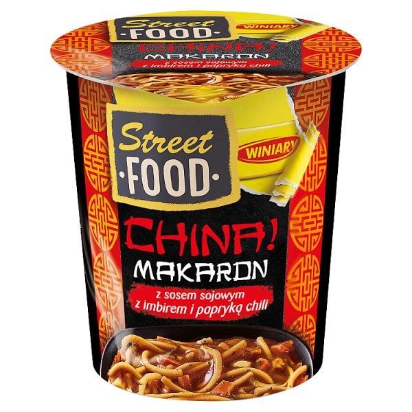 Winiary Street Food China! Makaron z sosem sojowym z imbirem i papryką chili 54 g