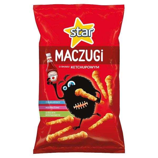 Star Maczugi Chrupki kukurydziane o smaku ketchupowym 80 g