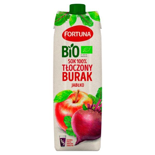Fortuna Bio Sok 100% tłoczony jabłko burak ćwikłowy 1 l
