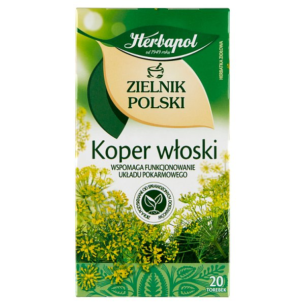 Herbapol Zielnik Polski Herbatka ziołowa koper włoski 36 g (20 x 1,8 g)