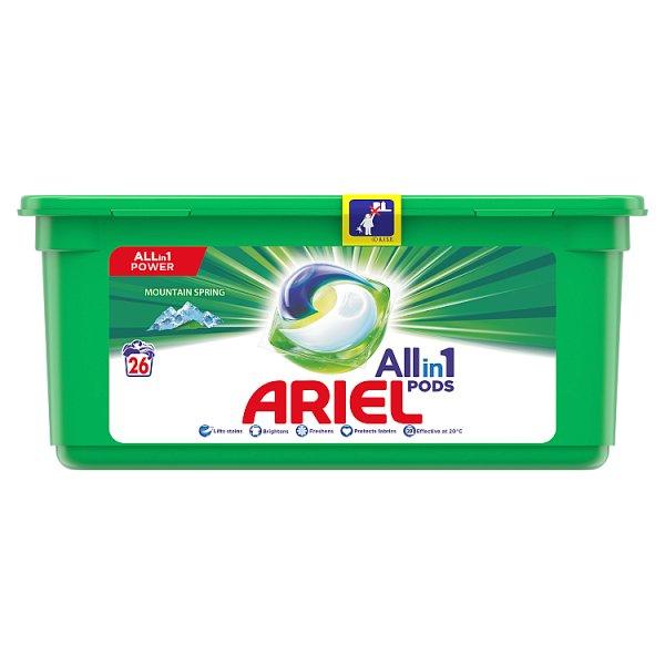 Ariel Allin1 Pods Mountain Spring Kapsułki do prania, 26prań