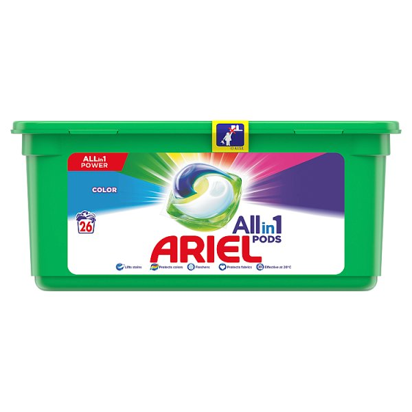 Ariel Allin1 Pods Color Kapsułki do prania, 26prań