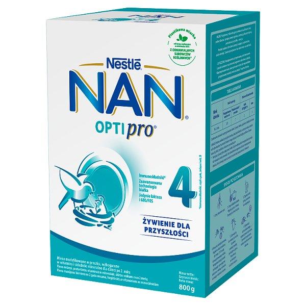 NAN OPTIPRO 4 Mleko modyfikowane dla dzieci po 2. roku 800 g (2 x 400 g)