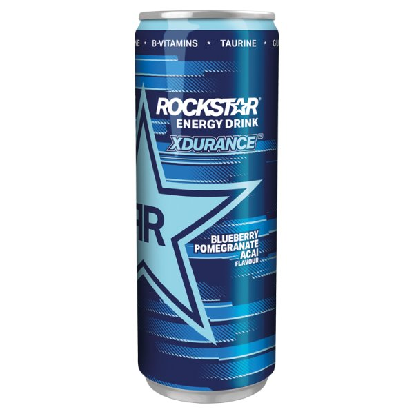 Rockstar Xdurance Gazowany napój energetyzujący o smaku owoców jagodowych i granatu 250 ml