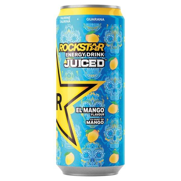 Rockstar Juiced El Mango Gazowany napój energetyzujący o smaku mango 500 ml