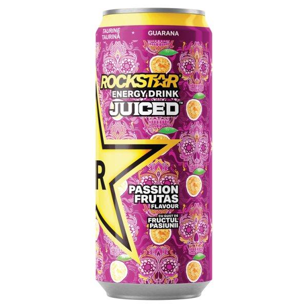 Rockstar Juiced Passion Frutas Gazowany napój energetyzujący o smaku marakui 500 ml