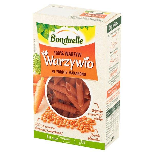 Bonduelle Warzywio Warzywa w formie makaronu z soczewicy koralowej i marchewki 250 g
