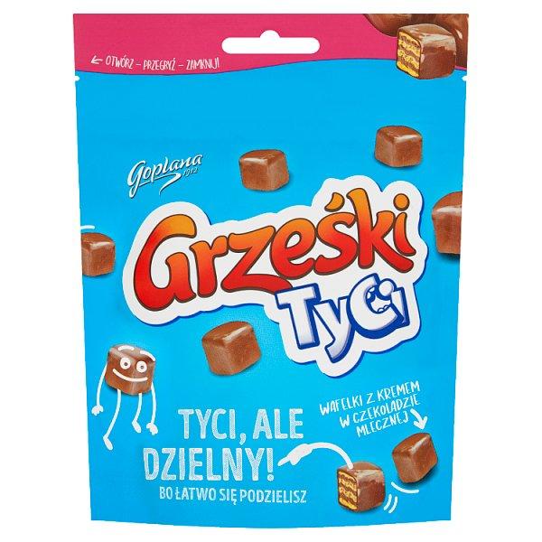 Grześki Tyci Wafelki z kremem w czekoladzie mlecznej 120 g