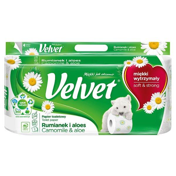 Velvet Rumianek i Aloes Papier toaletowy 8 rolek
