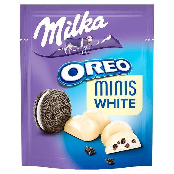 Milka Minis White Biała czekolada Oreo 153 g (10 sztuk)