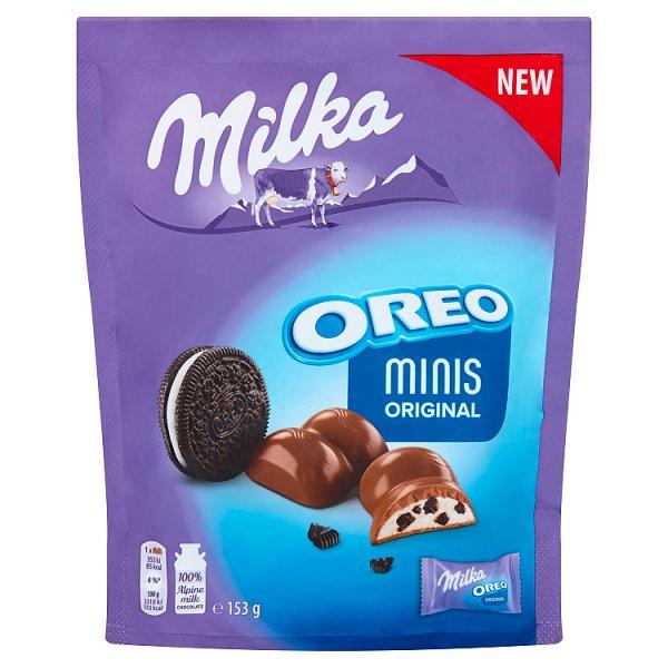 Milka Minis Original Czekolada mleczna Oreo 153 g (10 sztuk)
