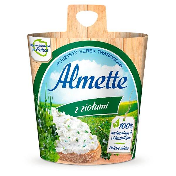 Almette Puszysty serek twarogowy z ziołami 150 g