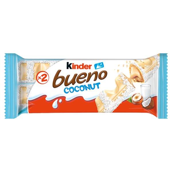 Kinder Bueno Coconut Wafel w białej czekoladzie z kokosowym nadzieniem 39 g (2 x 19,5 g)