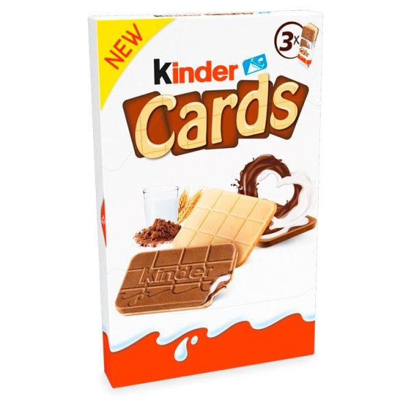 Kinder Cards Wafel wypełniony mlecznym i kakaowym nadzieniem 79 g