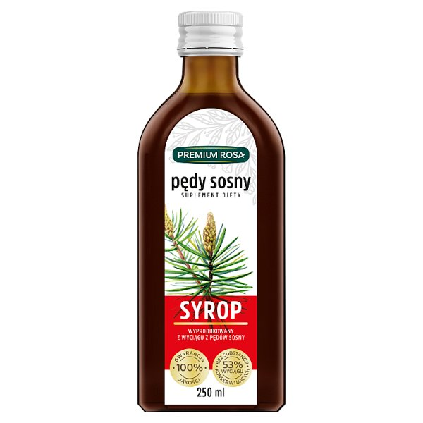 Premium Rosa Suplement diety syrop pędy sosny 500 ml