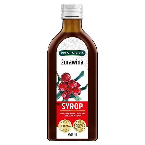 Premium Rosa Syrop żurawina 250 ml