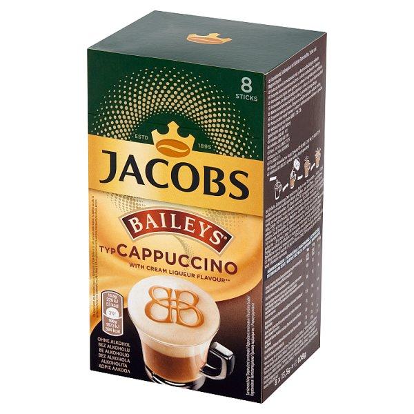 Jacobs Baileys typ Cappuccino Rozpuszczalny napój kawowy 108 g (8 x 13,5 g)