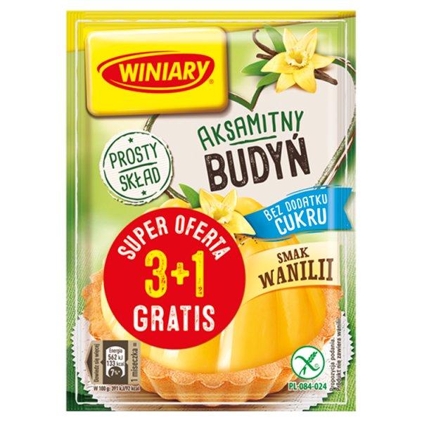 Winiary Budyń bez dodatku cukru smak wanilii 4 x 35 g