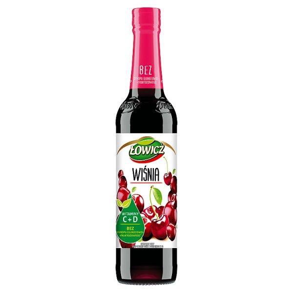 Łowicz Suplement diety syrop o smaku wiśniowym 400 ml